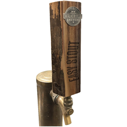 Live Edge Straight Walnut Beer Tap Handle