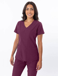 Sweetheart Neck Scrub Top