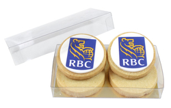 4 PIECE MINI BOXED SHORTBREAD COOKIES with Icing