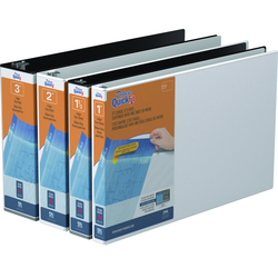 "3"" Locking Slant D-ring Poly Over-Lay Binder"