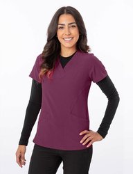V-Neck Poly/Spandex Top